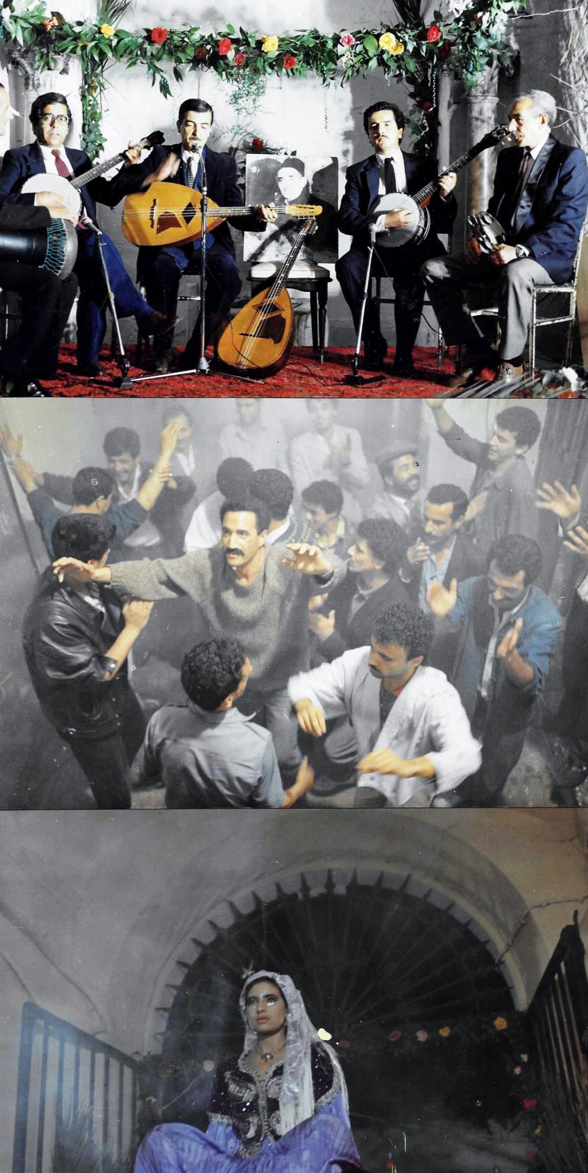 Café-MALAKOF.--Orchestre-chaabi.-Aziz-danse-avec-son-Andalouse...-Mohamed-Fellag----1988-LUMIERES