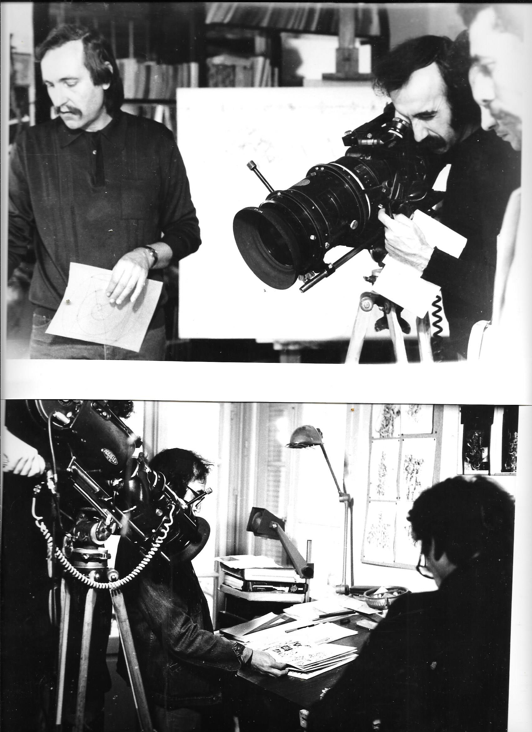 Denis-Martinez-et-JP-Lledo---Tournage-2-films-l'Oeuvre-et-le-Peintre.-1984,-Blida,-