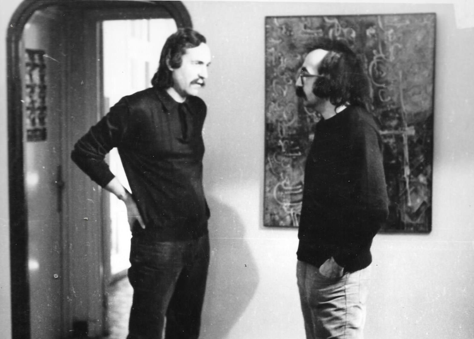 Denis-Martinez-et-JP-Lledo---Tournage-2-films-l'Oeuvre-et-le-Peintre.-Blida,-1984