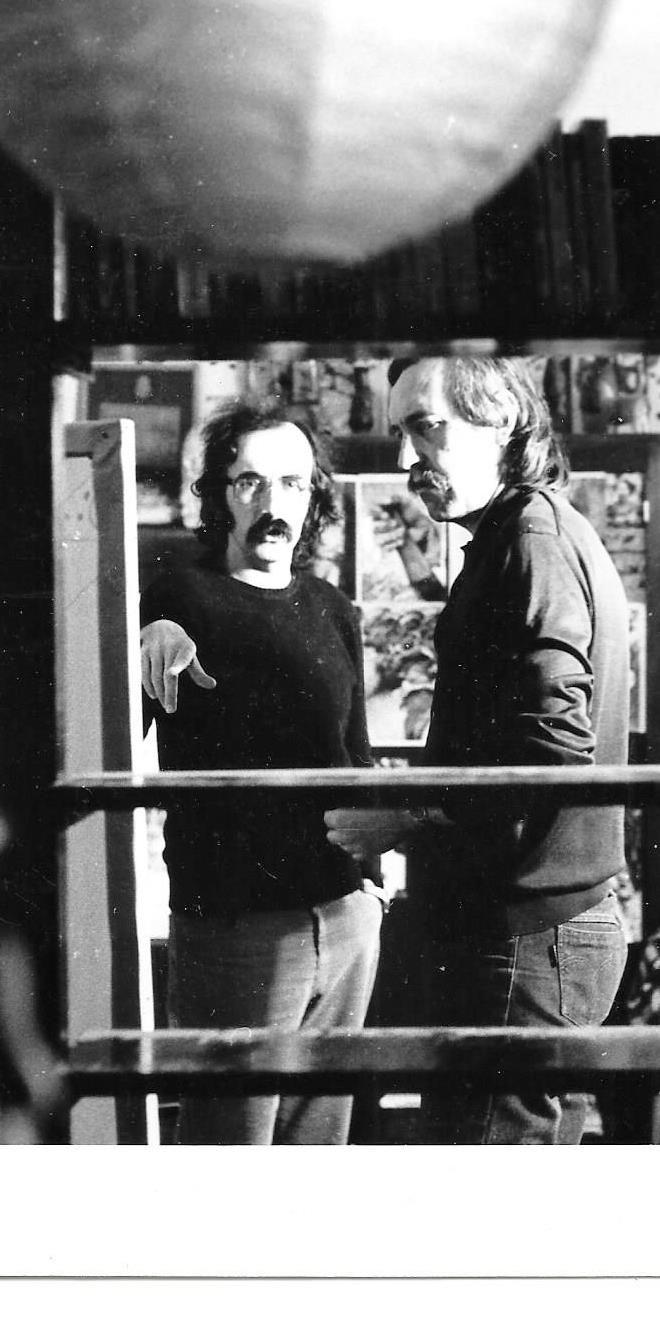 Denis-Martinez-et-JP-Lledo---Tournage-sur-l'Oeuvre-et-le-Peintre.-1984,-Blida,-