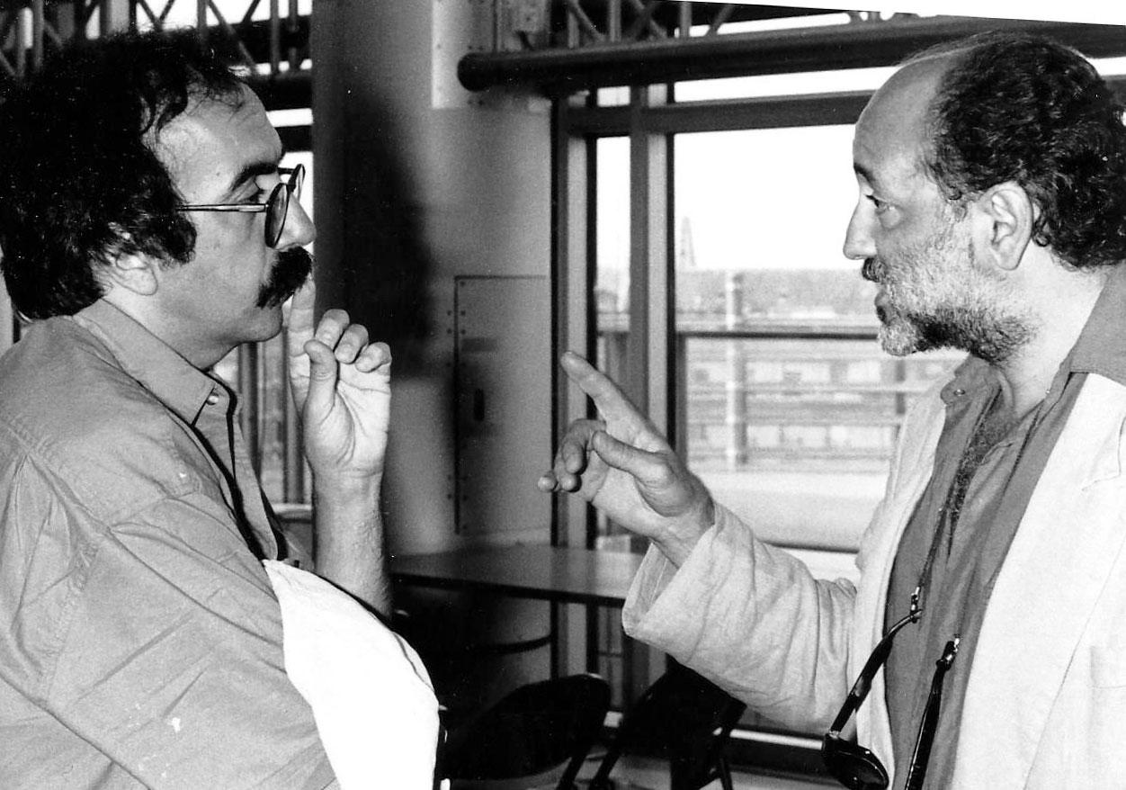 JP-LLEDO-&-Hassen-Deldoul,-cinéaste-tunisien.-Paris,-Juin-1992,-Fest-Films-arabes