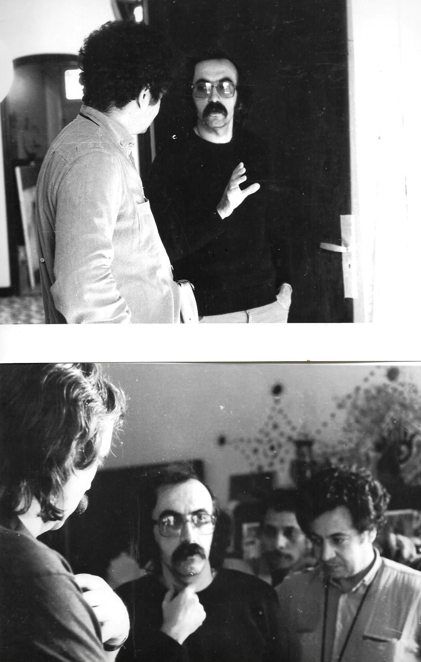 JP-Lledo-et-Chef-op-Smail-Lakhdar-Hamina--Tournage-2-films-sur-Peinture-Denis-Martinez,-Blida,-1984