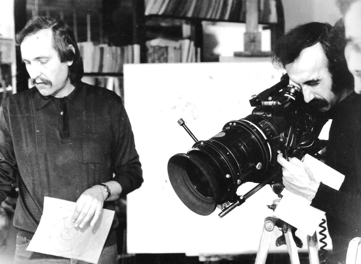 JP-Lledo-et-Denis-Martinez---Tournage-2-films-l'Oeuvre-et-le-Peintre.-1984,-Blida,-